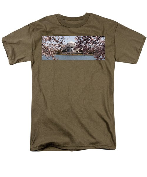 Cherry Blossom Trees In The Tidal Basin Men's T-Shirt  (Regular Fit) by Panoramic Images
