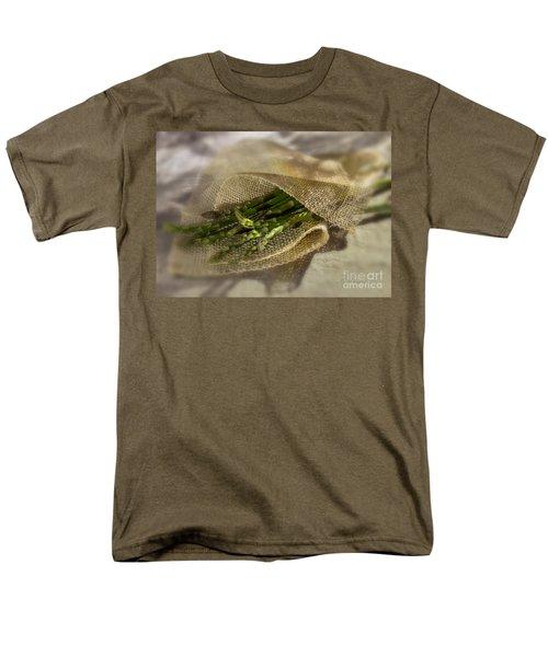 Green Asparagus On Burlab Men's T-Shirt  (Regular Fit) by Iris Richardson