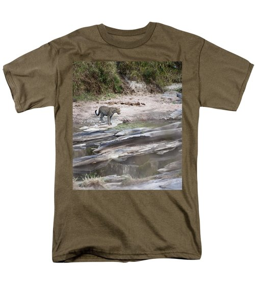 A Cheetah Stands At The Edge Of The T-Shirt by Diane Levit