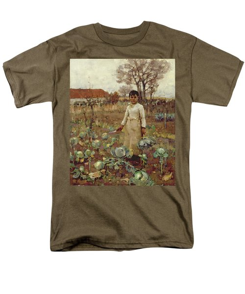 A Hinds Daughter, 1883 Oil On Canvas Men's T-Shirt  (Regular Fit) by Sir James Guthrie
