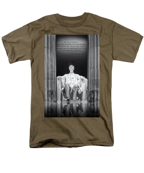 Abraham Lincoln Memorial T-Shirt by Susan Candelario