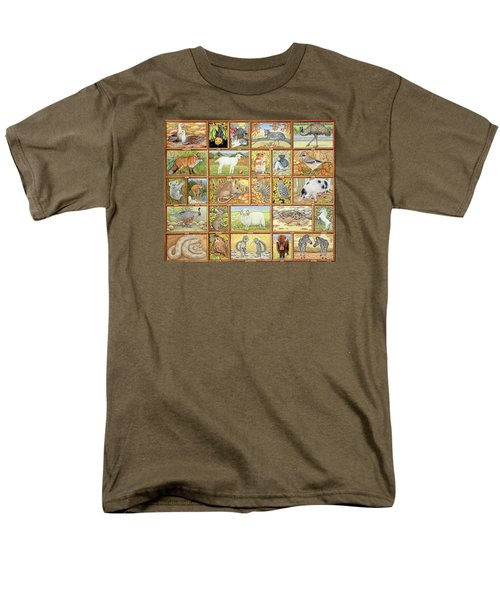 Alphabetical Animals Men's T-Shirt  (Regular Fit) by Ditz
