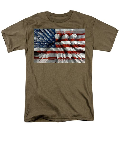 American Flag Abstract T-Shirt by Todd and candice Dailey