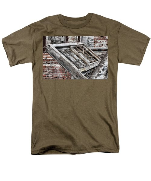 Antique Wood Window T-Shirt by Olivier Le Queinec