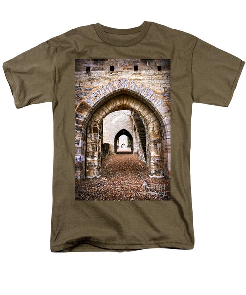 Arches of Valentre bridge in Cahors France T-Shirt by Elena Elisseeva