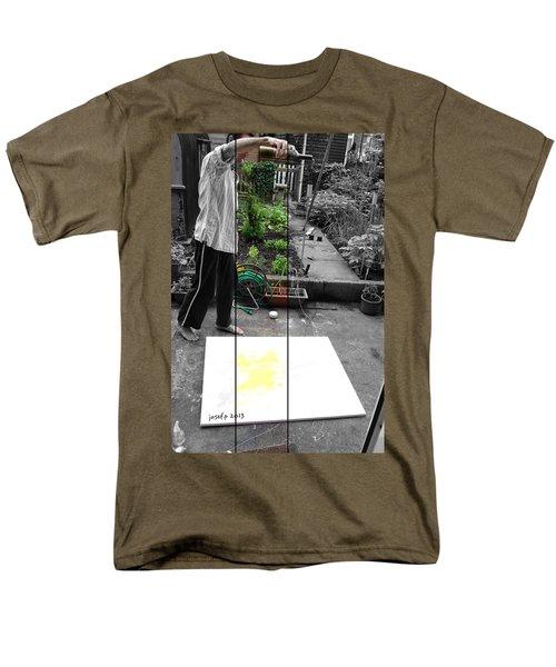artist at work three T-Shirt by Sir Josef  Putsche Social Critic