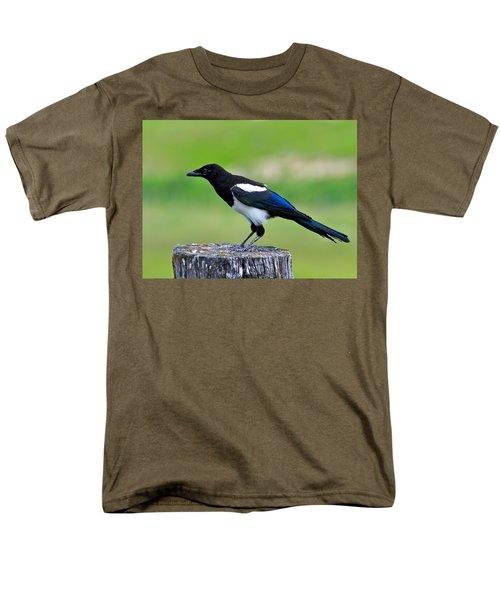 Black Billed Magpie Men's T-Shirt  (Regular Fit) by Karon Melillo DeVega