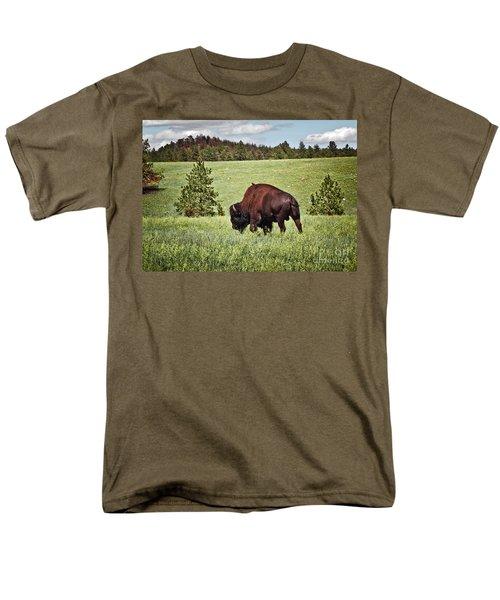 Black Hills Bull Bison T-Shirt by Robert Frederick