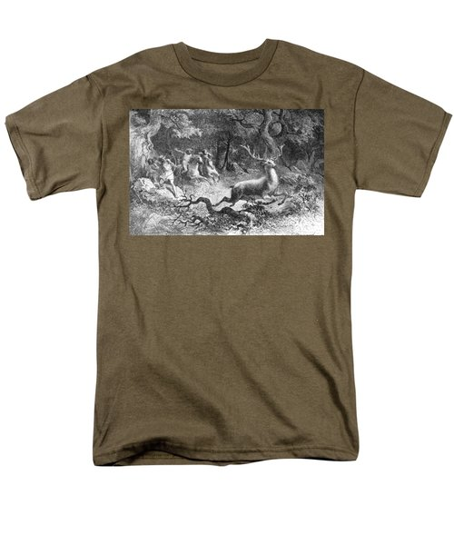 Men's T-Shirt  (Regular Fit) featuring the photograph Bronze Age, Hunting Scene by British Library