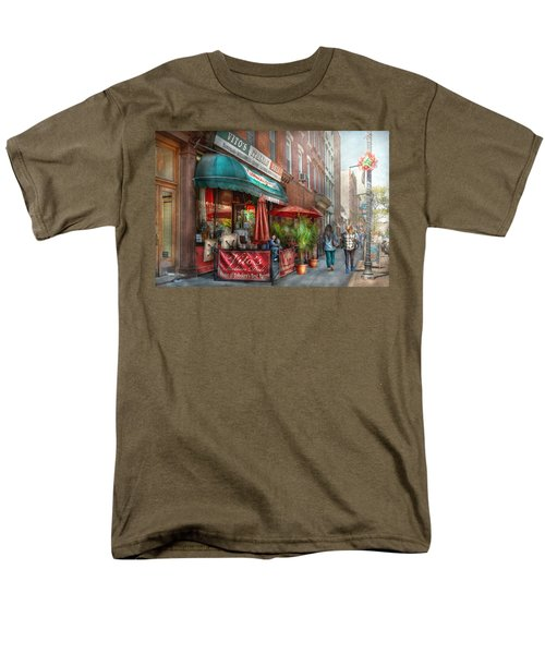 Cafe - Hoboken NJ - Vito's Italian Deli  T-Shirt by Mike Savad
