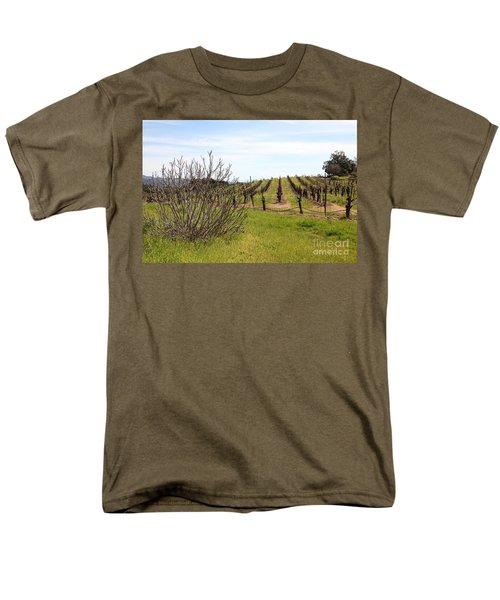 California Vineyards In Late Winter Just Before The Bloom 5D22121 T-Shirt by Wingsdomain Art and Photography