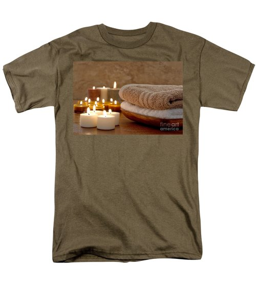 Candles and Towels in a Spa T-Shirt by Olivier Le Queinec