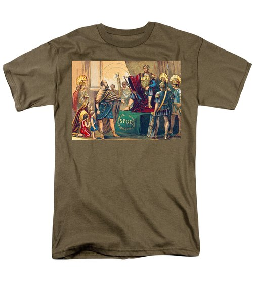 Men's T-Shirt  (Regular Fit) featuring the photograph Caractacus Before Emperor Claudius, 1st by British Library