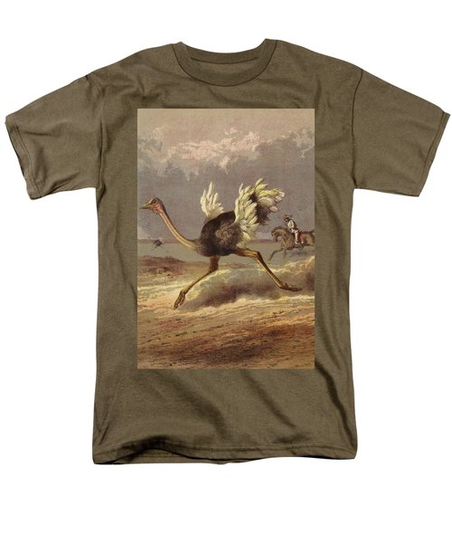 Chasing The Ostrich Men's T-Shirt  (Regular Fit) by English School