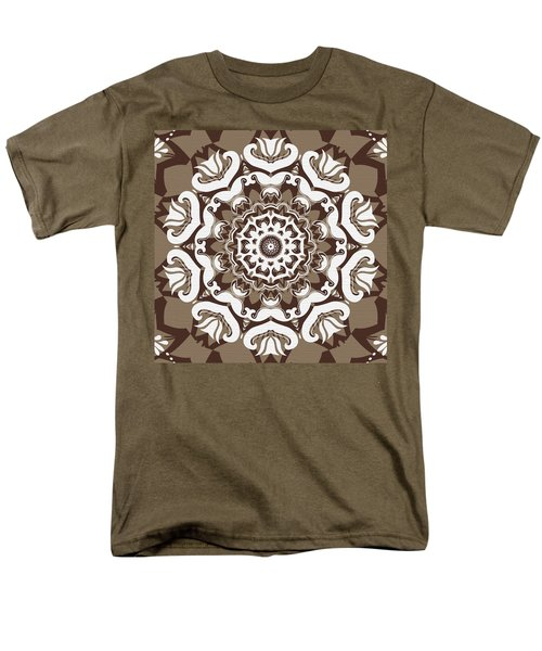 Coffee Flowers 10 Ornate Medallion T-Shirt by Angelina Vick