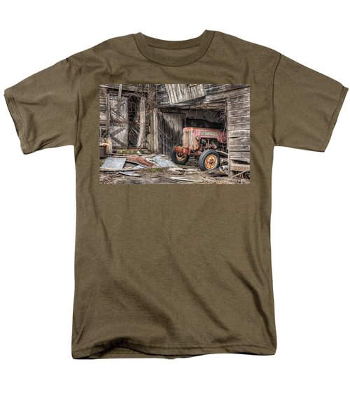 Comfortable chaos - Old tractor at Rest - Agricultural Machinary - Old Barn T-Shirt by Gary Heller