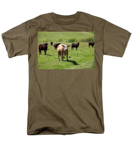 Cows Along The Rolling Hills Landscape of The Black Diamond Mines in Antioch California 5D22341 T-Shirt by Wingsdomain Art and Photography