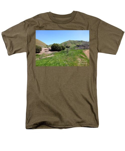 Cows Along The Rolling Landscapes of The Black Diamond Mines in Antioch California 5D22291 T-Shirt by Wingsdomain Art and Photography