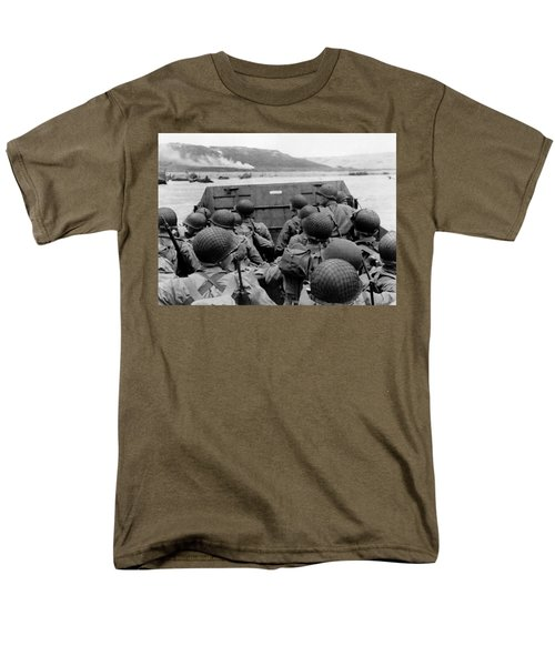 D-Day Soldiers In A Higgins Boat  T-Shirt by War Is Hell Store
