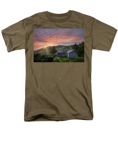 Dawn Over LeConte T-Shirt by Debra and Dave Vanderlaan