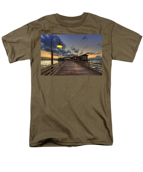 Dock lights at Jekyll Island T-Shirt by Debra and Dave Vanderlaan