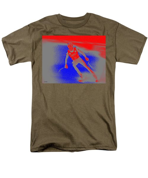 Downhill Skier T-Shirt by George Pedro