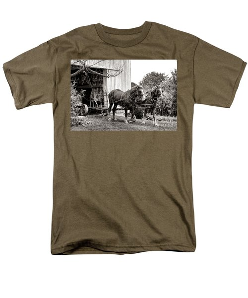 Draft Horses at Work T-Shirt by Olivier Le Queinec