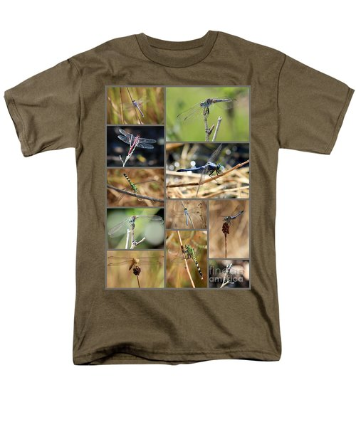 Dragonfly Collage T-Shirt by Carol Groenen