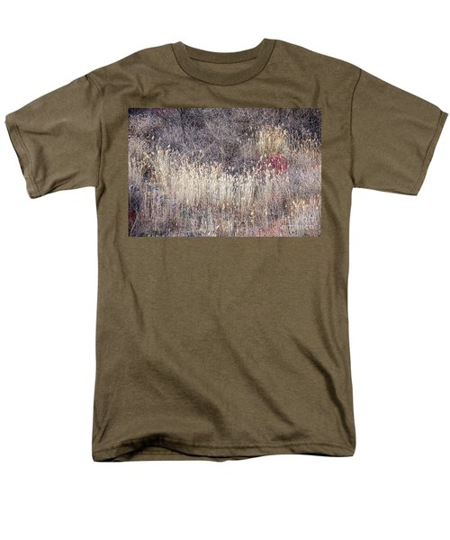 Dry grasses and bare trees in winter forest T-Shirt by Elena Elisseeva