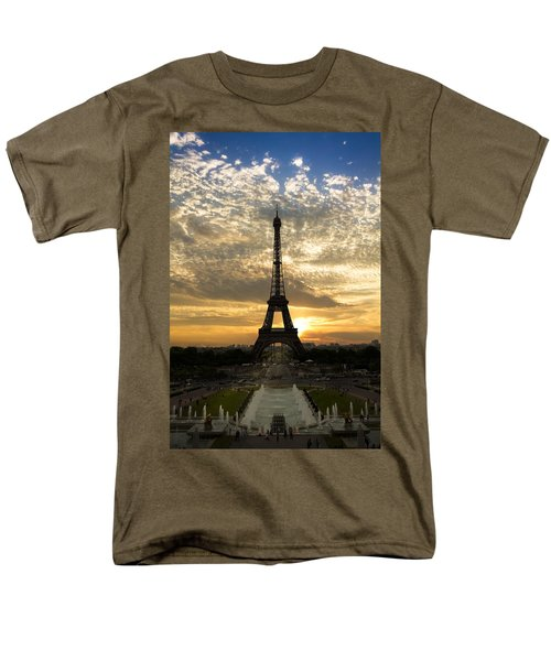 Eiffel Tower at Sunset T-Shirt by Debra and Dave Vanderlaan