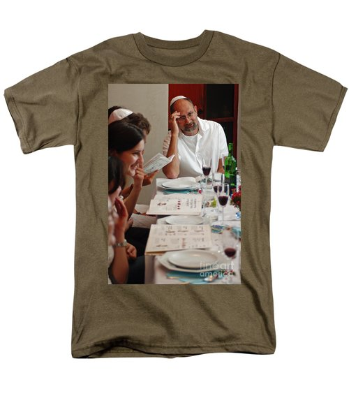 Family around the sedder table T-Shirt by Ilan Rosen