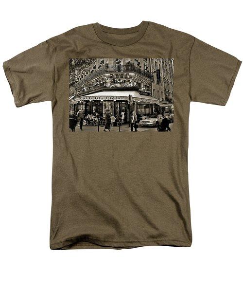 Famous Cafe de Flore - Paris T-Shirt by Carlos Alkmin