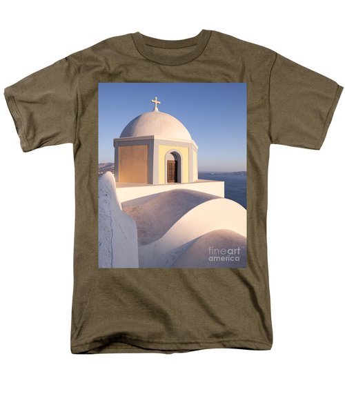 Famous orthodox church in Santorini Greece T-Shirt by Matteo Colombo