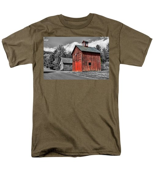Farm - Barn - Weathered Red Barn T-Shirt by Paul Ward