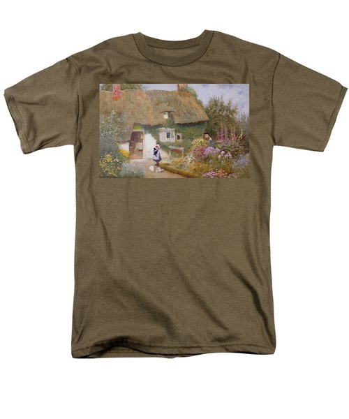 Feeding The Pigeons Men's T-Shirt  (Regular Fit) by Arthur Claude Strachan
