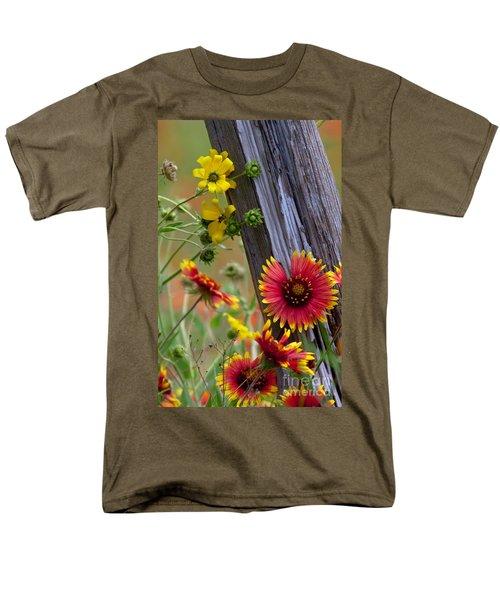 Fenceline Wildflowers T-Shirt by Robert Frederick