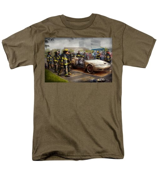 Firemen - The fire demonstration T-Shirt by Mike Savad