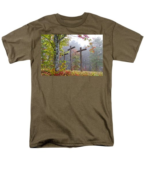Flax Creek in the Fog T-Shirt by Debra and Dave Vanderlaan