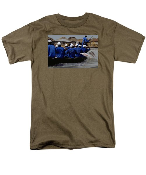 Men's T-Shirt  (Regular Fit) featuring the photograph Ganvie - Lake Nokoue by Travel Pics