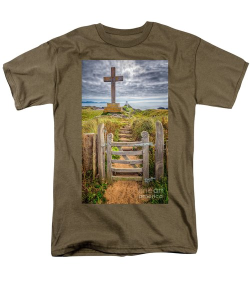 Gate to Holy Island  T-Shirt by Adrian Evans