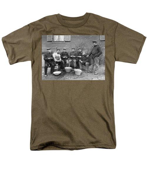 Germans Peeling Potatoes Men's T-Shirt  (Regular Fit) by Underwood Archives