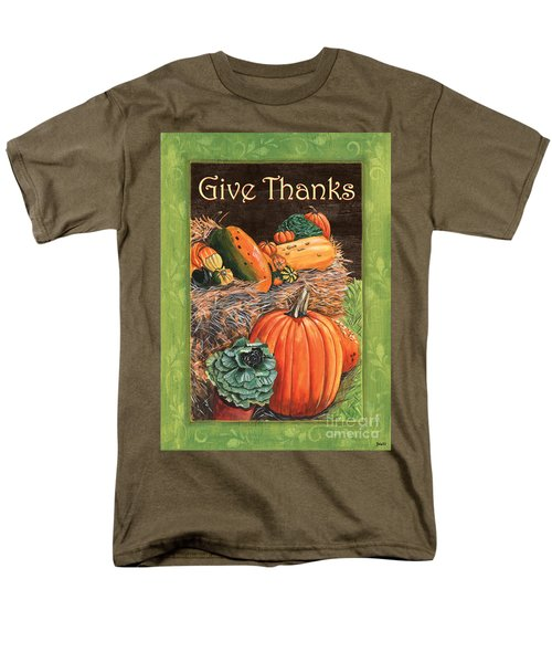 Give Thanks Men's T-Shirt  (Regular Fit) by Debbie DeWitt
