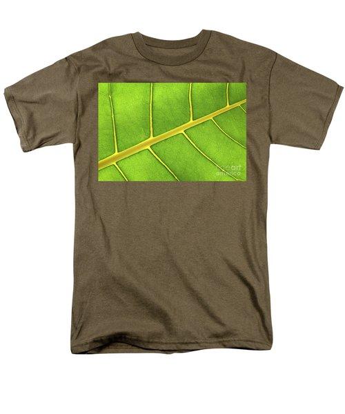 Green leaf close up T-Shirt by Elena Elisseeva