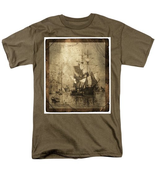 Grungy Historic Seaport Schooner T-Shirt by John Stephens
