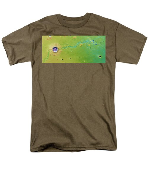 Men's T-Shirt  (Regular Fit) featuring the photograph Hephaestus Fossae, Mars by Science Source