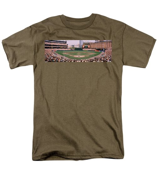 High Angle View Of A Baseball Field Men's T-Shirt  (Regular Fit) by Panoramic Images