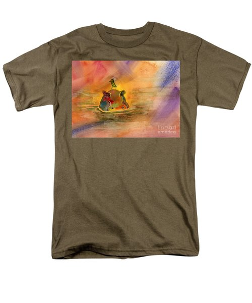 Hippo Birdie Men's T-Shirt  (Regular Fit) by Amy Kirkpatrick