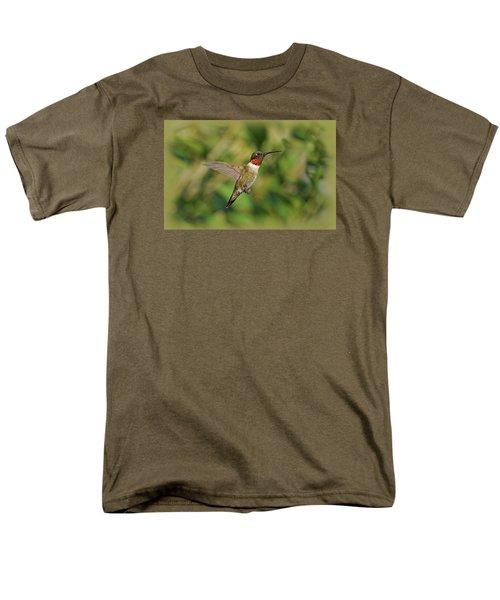Hummingbird in Flight T-Shirt by Sandy Keeton