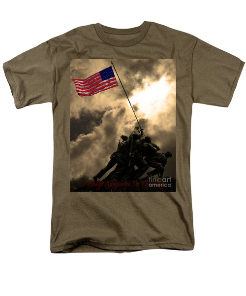 I Pledge Allegiance To The Flag - Iwo Jima 20130211v2 T-Shirt by Wingsdomain Art and Photography