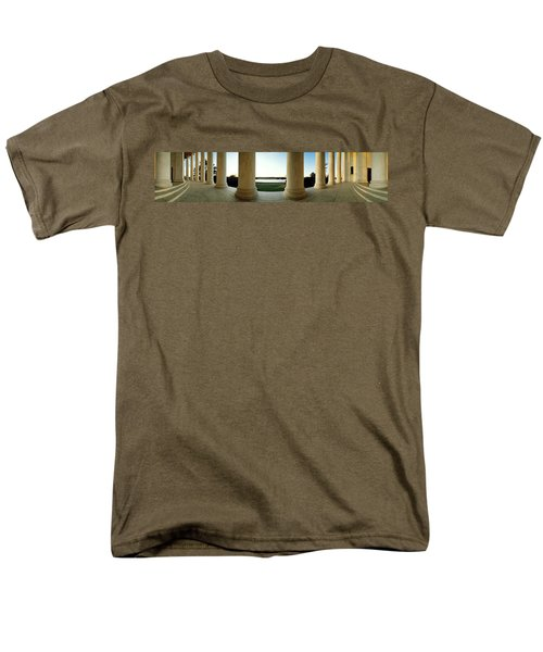 Jefferson Memorial Washington Dc Men's T-Shirt  (Regular Fit) by Panoramic Images
